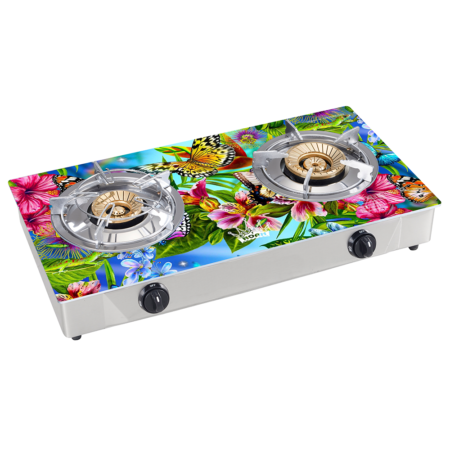GAS STOVES: NGS-90120D ( Double burner gas top)