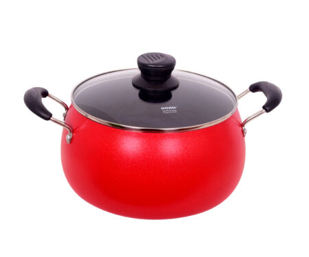 Non-Stick Apple Belly Pot: Red (30.5cm)