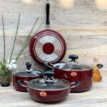 New Marble Design Cookware Full-Maroon