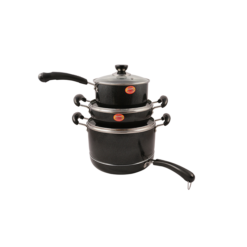 Non Stick Full Set Induction – Black