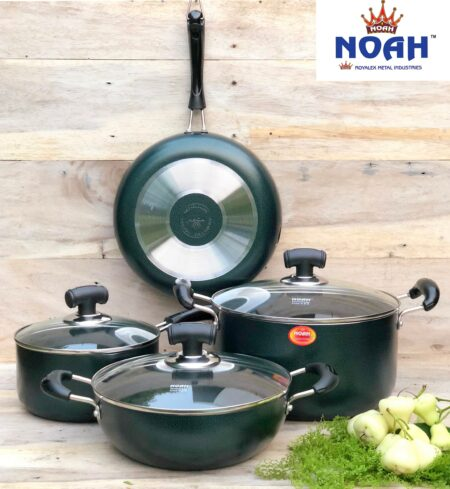 New Marble Design Cookware Full-Green